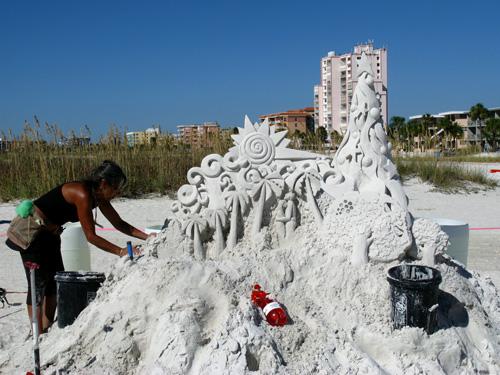 sand sculpture contest 2010 treasure island florida lucinda wierega
