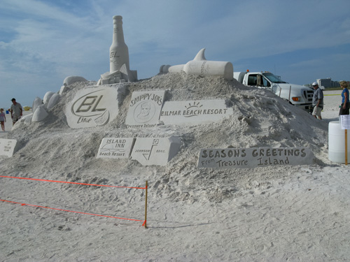 Invitation to the Treasure Island Sand Sculpture Contest.