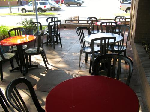 breakfast at sebastians cafe outside seating