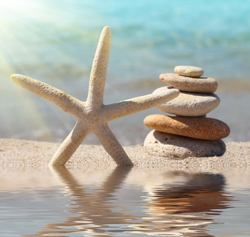 Stacking rocks on the Florida beach can be an artistic endeavor as well as a spiritual one.