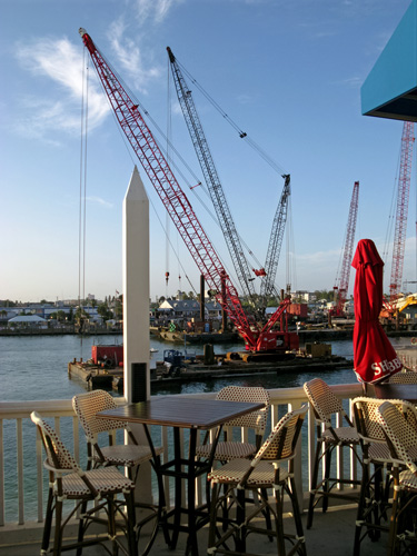 View of construction from Bubba Gump Restaurant 500v