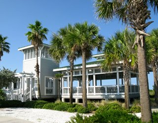 sunset beach pavilion popular for beach weddings