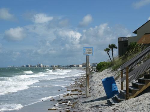 the sunshine beach access at high tide