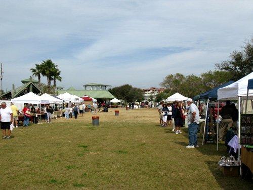 the treasure island open air market lawn