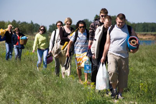 Hiking with a bunch or unorganized tourists is not part of the Vanabode lifestyle.
