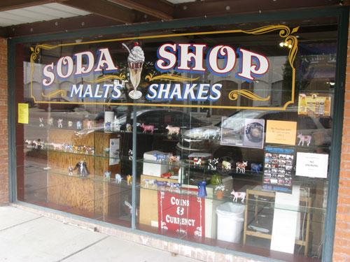 An old soda shop in Bryan Texas.