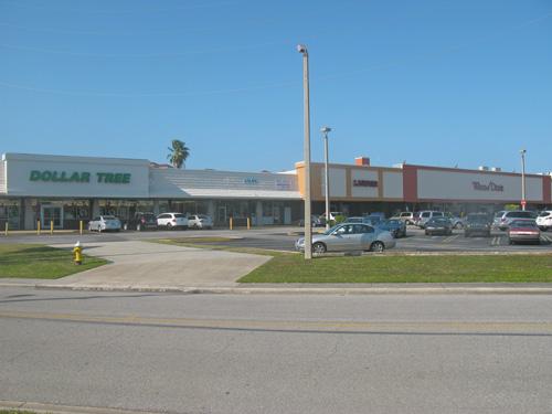 Small shopping center in Madeira Beach FL.